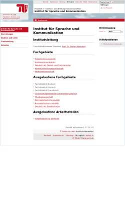 Vorschau der mobilen Webseite www.tu-berlin.de, Institut für Sprache und Kommunikation der TU Berlin
