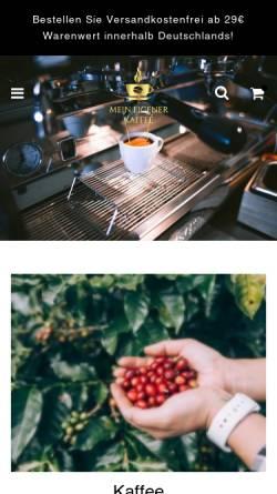 Vorschau der mobilen Webseite www.mein-eigener-kaffee.de, Mein eigener Kaffee