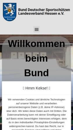 Vorschau der mobilen Webseite www.bdshessen.de, Bund Deutscher Sportschützen - Landesverband Hessen