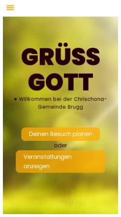 Vorschau der mobilen Webseite www.chrischona-brugg.ch, Biblecorner