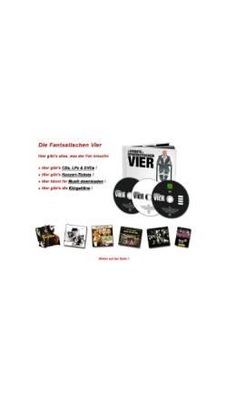 Vorschau der mobilen Webseite www.diefantastischen4.de, Die Fantastischen Vier - Fanpage