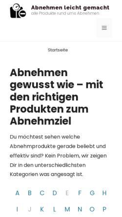 Vorschau der mobilen Webseite abnehmpillentest24.de, Susanne Reeiki