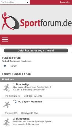 Vorschau der mobilen Webseite www.fussball-buli.de, Fussball-BuLi