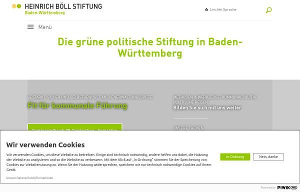Vorschau von www.boell-bw.de, Heinrich Böll Stiftung Baden-Württemberg