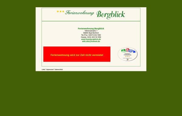 Vorschau von www.fewobergblick.de, Ferienwohnung Bergblick