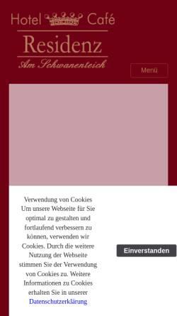 Vorschau der mobilen Webseite www.residenz-bad-bertrich.de, Hotel - Cafe Residenz