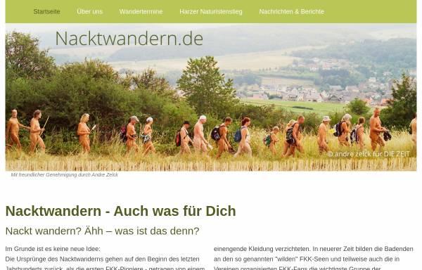 Vorschau von www.nacktwandern.de, Nacktwandern.de