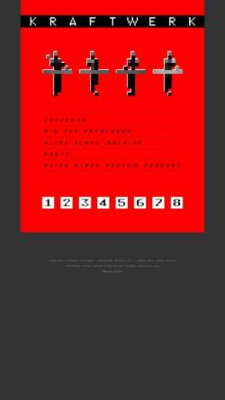 Vorschau der mobilen Webseite www.kraftwerk.com, Kraftwerk