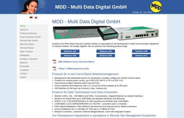 Vorschau von www.mdd-gmbh.de, Multi Data Digital GmbH