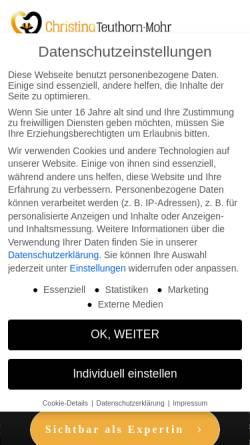 Vorschau der mobilen Webseite www.teuthorn.de, Teuthorn, Christina