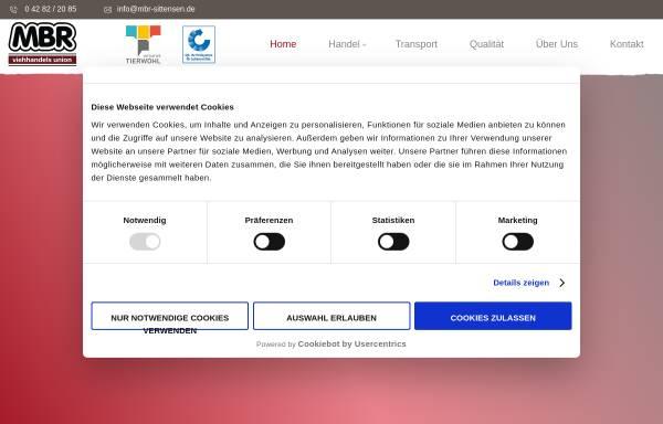 Vorschau von www.mbr-sittensen.de, MBR Viehhandels Union GmbH & Co.