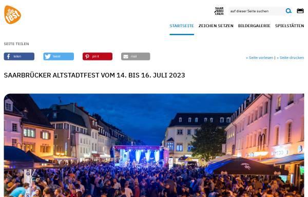Vorschau von www.altstadtfest-saarbruecken.de, Altstadtfest