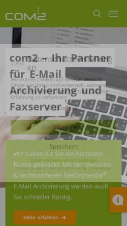 Vorschau der mobilen Webseite www.com2.de, NetOrchestra E-Mail-Archivierung