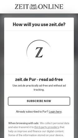 Vorschau der mobilen Webseite www.zeit.de, Zeit.de: Mein WM-Erlebnis: Christian Wörns: Ich fühlte nur Leere