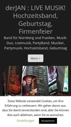 Vorschau der mobilen Webseite derjan.de, Der Jan