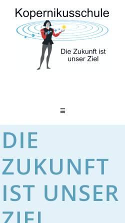 Vorschau der mobilen Webseite www.kopernikushs-koeln.de, Kopernikusschule