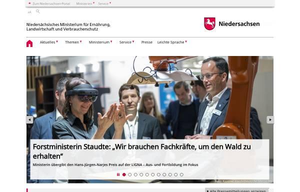 Vorschau von www.ml.niedersachsen.de, Niedersächsisches Ministerium für Ernährung, Landwirtschaft, Verbraucherschutz und Landesentwicklung