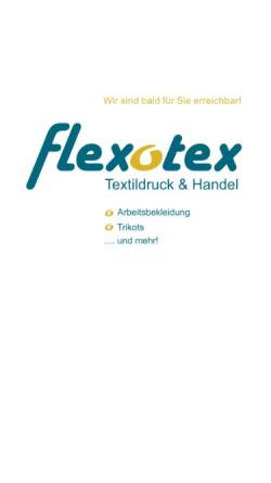 Vorschau der mobilen Webseite www.flexotex.de, Flexotex Inh. Olaf Schiedel