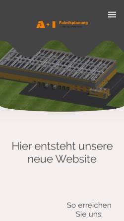 Vorschau der mobilen Webseite www.aui-gmbh.de, A+I Dipl.-Ing. J.Höller und Partner GmbH