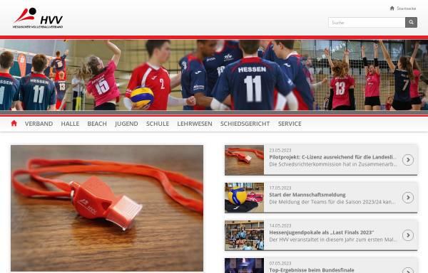 Vorschau von www.hessen-volley.de, Hessischer Volleyballverband e.V.