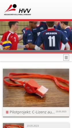 Vorschau der mobilen Webseite www.hessen-volley.de, Hessischer Volleyballverband e.V.