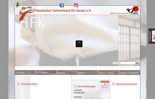 Vorschau von www.karate-hessen.de, Hessischer Fachverband für Karate e. V.