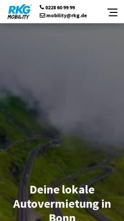 Vorschau der mobilen Webseite www.rkg-powerrent.de, Autovermietung RKG Power Rent