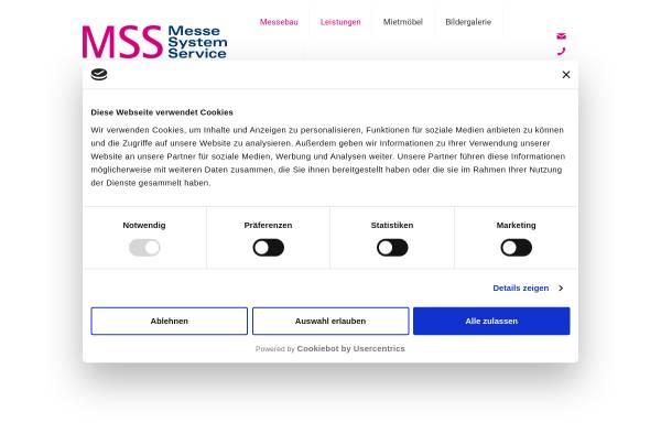 Vorschau von www.mss-messe.de, Messe System Service Inh. Rita Böhme