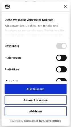 Vorschau der mobilen Webseite www.mss-messe.de, Messe System Service Inh. Rita Böhme