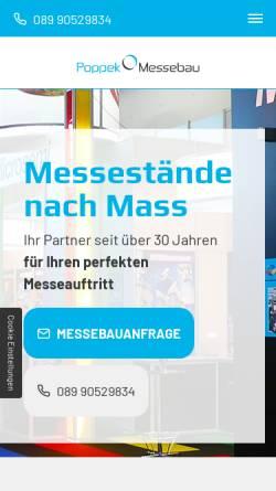 Vorschau der mobilen Webseite www.messebau-poppek.de, Poppek Messebau GmbH