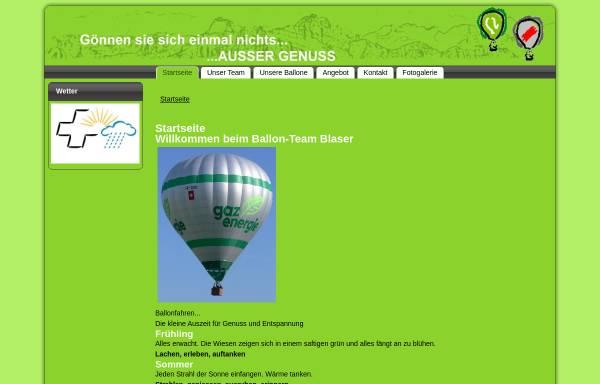 Vorschau von www.blaserballon.ch, Ballon-Team Blaser