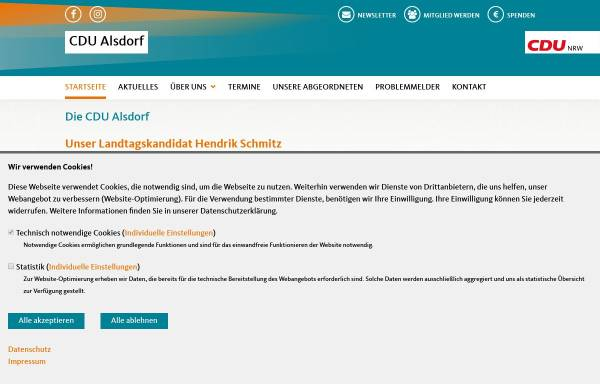 Vorschau von www.cdu-alsdorf.de, CDU-Stadtverband Alsdorf
