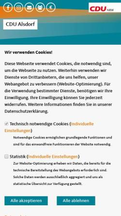 Vorschau der mobilen Webseite www.cdu-alsdorf.de, CDU-Stadtverband Alsdorf