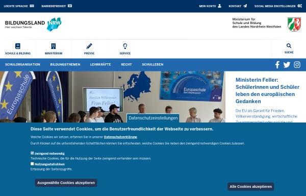 Vorschau von www.schulministerium.nrw.de, Ministerium für Schule und Weiterbildung des Landes Nordrhein-Westfalen (MSW NRW)