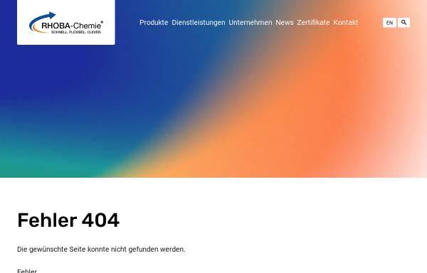 Vorschau von rhoba-chemie.com, Rhoba-Chemie GmbH
