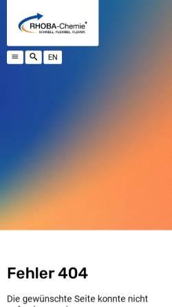 Vorschau der mobilen Webseite rhoba-chemie.com, Rhoba-Chemie GmbH