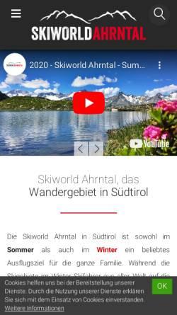 Vorschau der mobilen Webseite www.skiworldahrntal.it, Skigebiet Speikboden