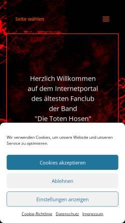 Vorschau der mobilen Webseite www.dth-fans.de, DTH-Fans