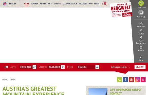 Vorschau von www.skiwelt.at, Bergbahnen Wilder Kaiser - Brixental