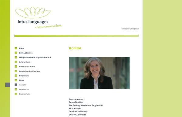Vorschau von lotuslanguages.com, Lotus Languages, Inh. Emma Stockton