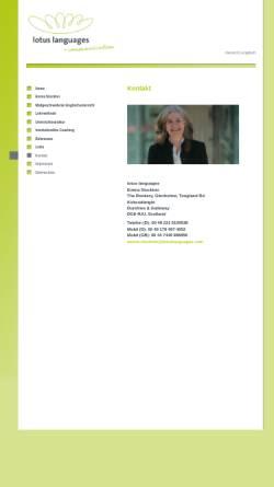 Vorschau der mobilen Webseite lotuslanguages.com, Lotus Languages, Inh. Emma Stockton