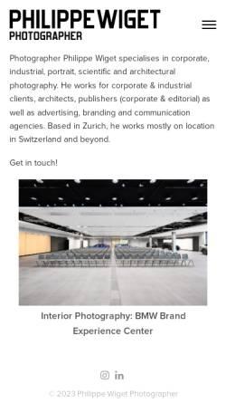 Vorschau der mobilen Webseite www.hochzeitsfotograf-schweiz.ch, Wiget, Philippe