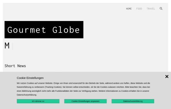 Vorschau von www.gourmetglobe.de, Gourmetglobe.de