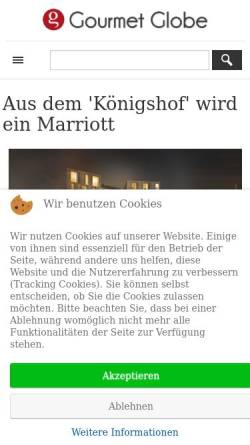 Vorschau der mobilen Webseite www.gourmetglobe.de, Gourmetglobe.de