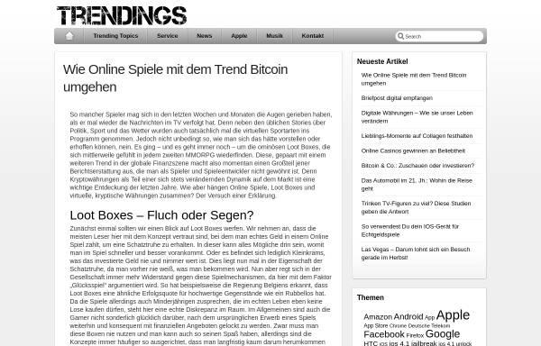 Vorschau von www.trendings.de, Trendings.de
