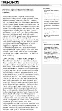Vorschau der mobilen Webseite www.trendings.de, Trendings.de