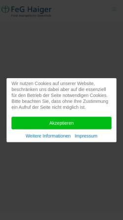 Vorschau der mobilen Webseite haiger.feg.de, Freie evangelische Gemeinde Haiger