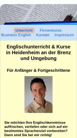 Vorschau der mobilen Webseite www.englischunterricht-heidenheim.de, Englischunterricht Heidenheim, Inh. Bernd Kapori