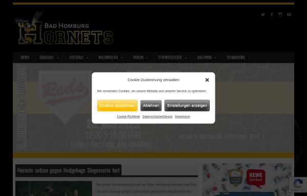 Vorschau von www.hornets-baseball.de, Bad Homburg Hornets e.V.