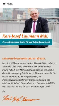 Vorschau der mobilen Webseite www.karl-josef-laumann.de, Laumann, Karl-Josef (MdL)